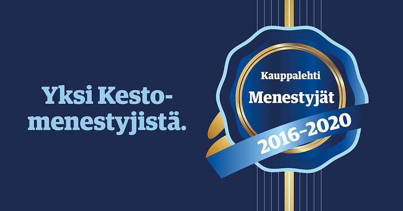 Yksi Kesto-menestyjistä 2016 - 2020. Kauppalehti.